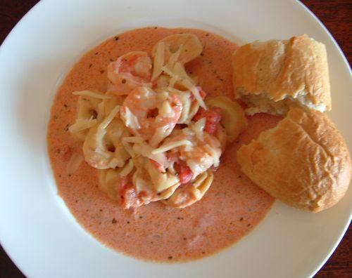 Shrimp tortellini tomato cream sauce 2