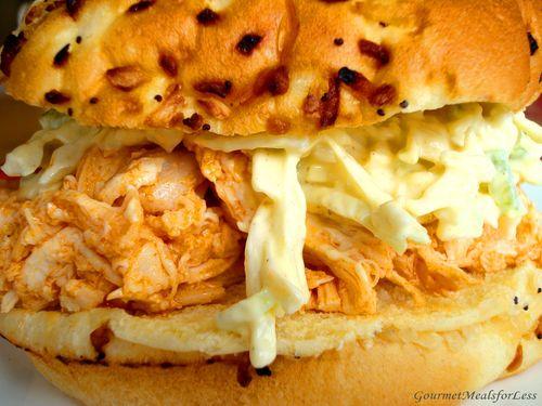 Up close sandwich